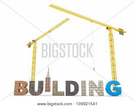 Building type font concept