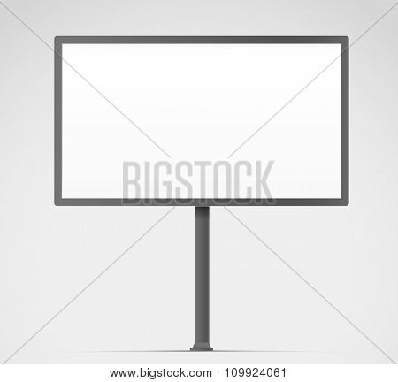 Blank urban advertising board template. Past your content on it
