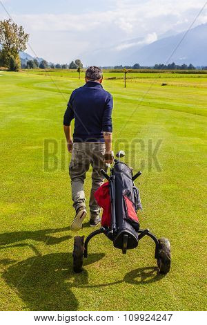 Walking On A Golf Course