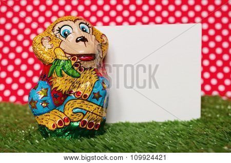 Chocolate monkey in a wrapper