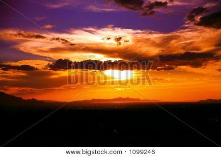Sunset Show Over Salt Lake City
