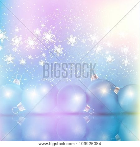 Christmas bauble background with a retro effect