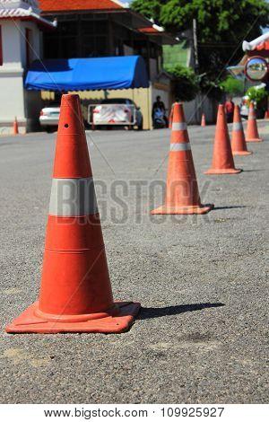 Traffic Cones Background