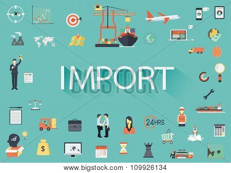 Import Flat Icon