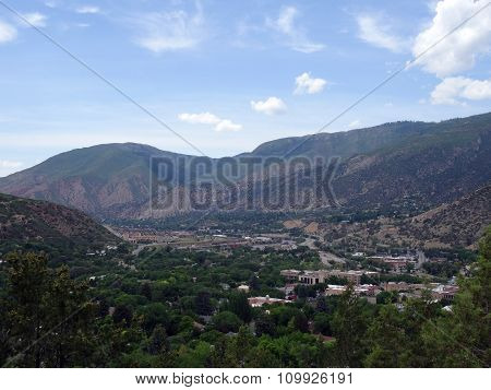 Aerial View Of Glenwood Springs Town In The Colorado Mountains
