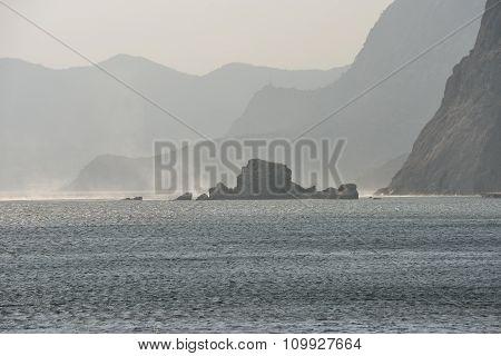 Coastal View Toward New World From Sudak, Crimea, Russia.