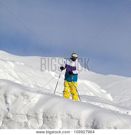 Skier On Off-piste Slope