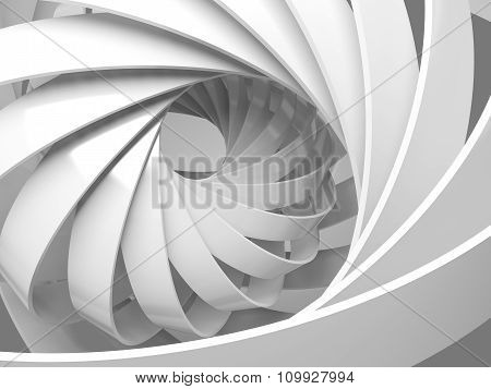 Abstract Digital Background With 3D Spiral Structure