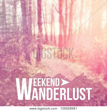 Inspirational Typographic Quote - Weekend wanderlust