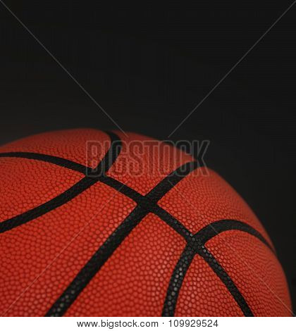 basket ball  with space for text