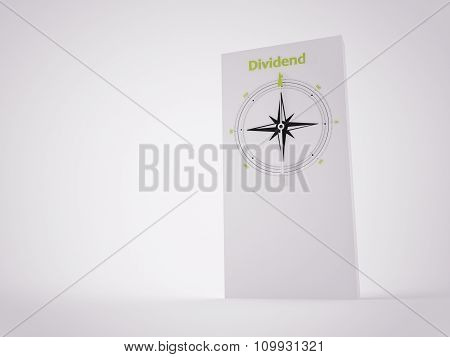 A 3D Maded Compass On A White Screen