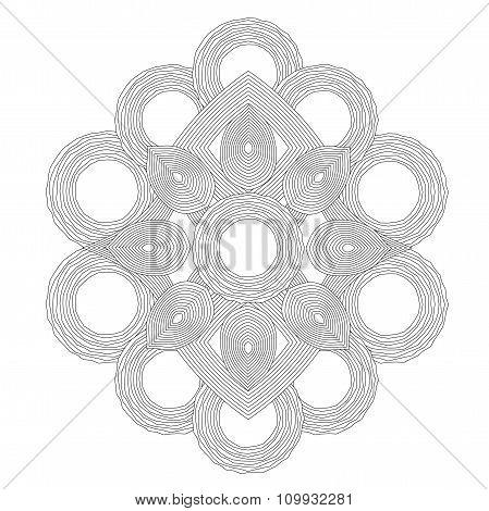 Circle Spiral Ornament.