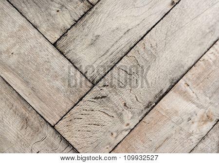 Whtie Parquet Floor