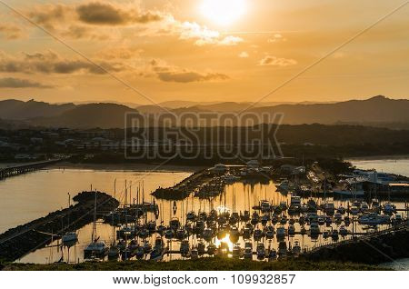 Coffs Harbour beautiful marina view, sailboats, yachts and motor