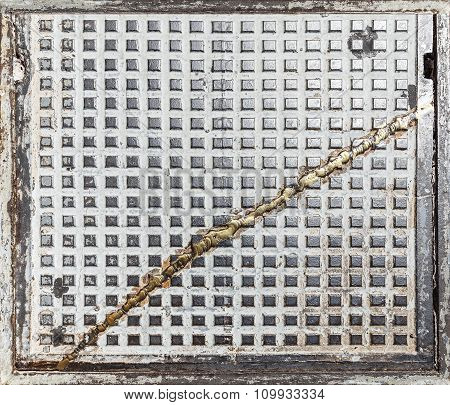 Grunge Industrial Background Or Texture Made Of Old Hatch