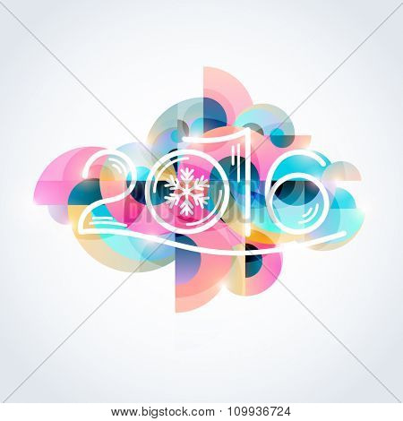 New year poster. Colorful design.