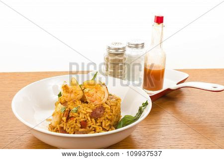 Jambalaya On Kitchen Counter