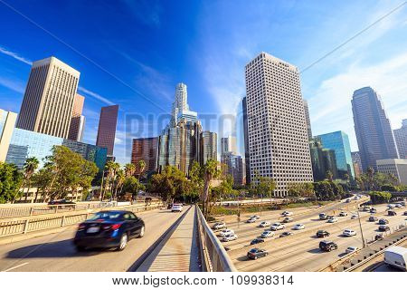 Los Angeles, California, Usa Downtown Cityscape