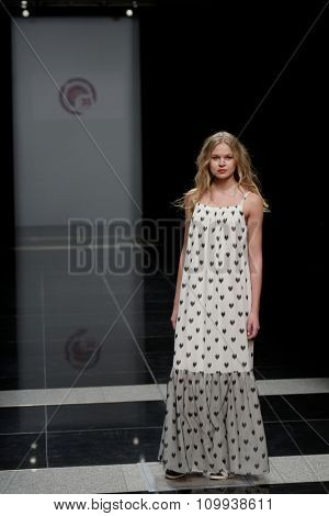 ST. PETERSBURG, RUSSIA - OCTOBER 28, 2015: Collection of Fashion House KOGEL at the fashion show during Mercedes-Benz Fashion Day St. Petersburg. It is one of the city's most popular fashion events