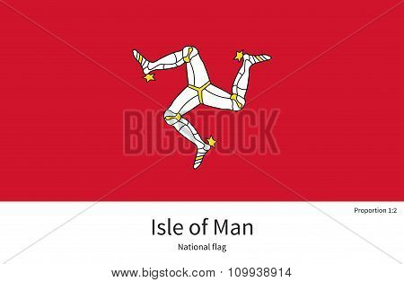 National flag Isle of Man with correct proportions, element, colors
