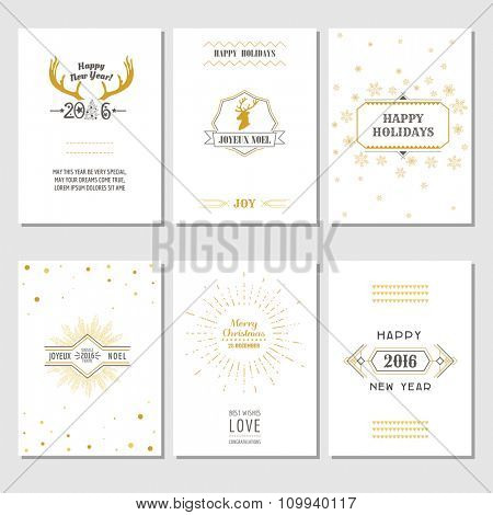 Christmas and New Year Cards - Art Deco Style - in vector