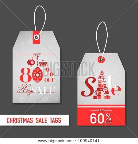 Christmas Sale Tags - in vector