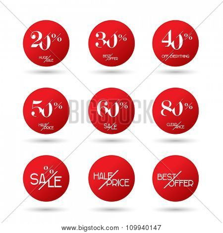 Sale Tags and Banners - in vector
