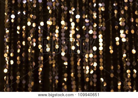 Abstract Glittering Lights, Gold