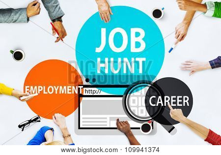 Job Hunt Employment Career Recruitment Hiring Concept