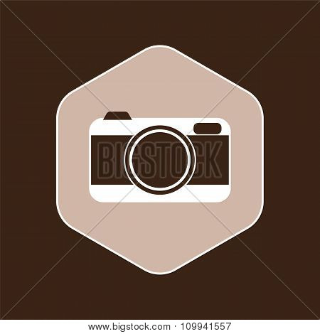 Camera Icon On Brown