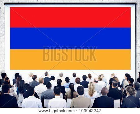 Armenia National Flag Government Freedom Seminar Concept