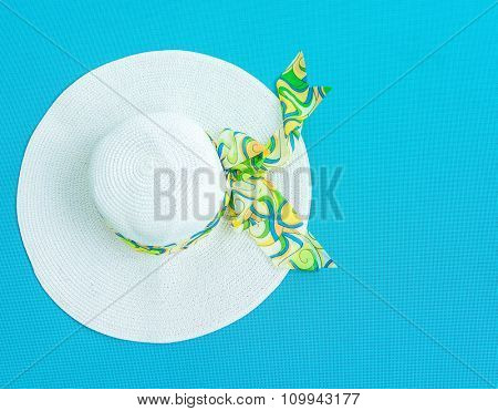 White fashionable hat