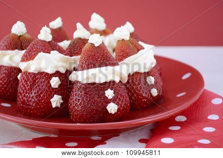 Christmas Strawberry Santas
