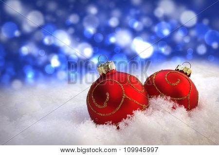 Christmas Greeting Background With Copyspace