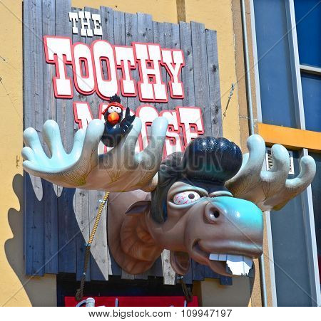 Sign of Toothy Moose