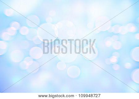 Blue blur background, gentle pastel color backdrop, soft focus, cute Christmas greeting card