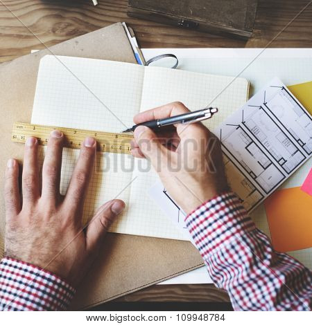 Planning Professional Ruler Stationary Working Office Concept
