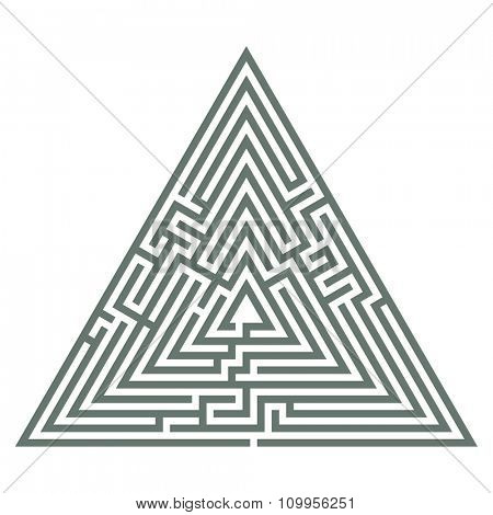 Vector illustration of labyrinth. Some wrong ways and one exit.
