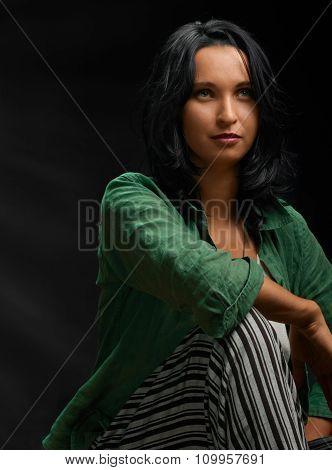 Casual proud woman portrait