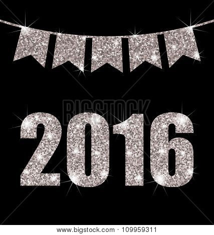 Bunting Pennants for Happy New Year 2016