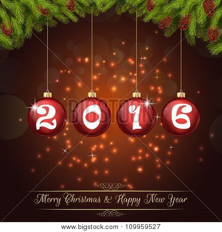 Happy new year for 2016 background