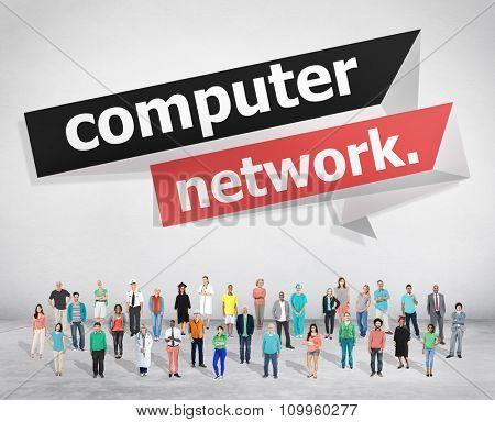 Computer Network Technology Computing Internet Concept