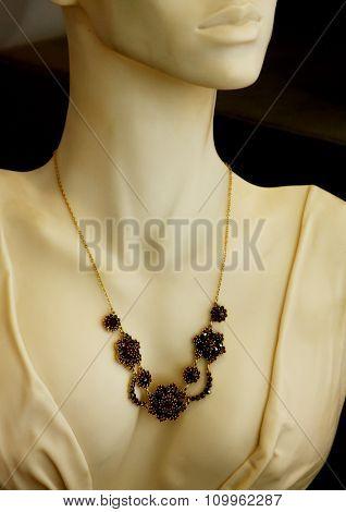 jewelry in store window , fashion shoot