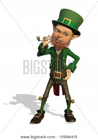 Leprechaun Enjoys His Pipe