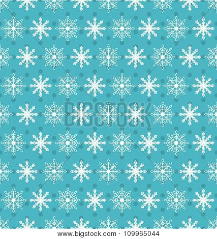 Seamless Christmas pattern with xmas snowflakes