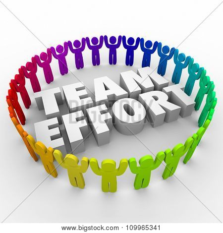 team words team effort words middle people image photo bigstock