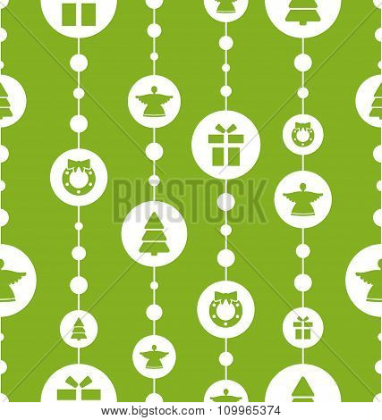 Christmas Seamless Pattern with Traditional Elements
