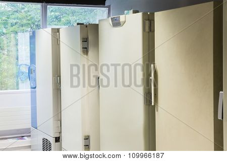 Large fridge units in the laboratory
