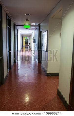 Empty hallway in college