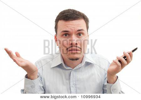 Puzzled Caucasian Male
